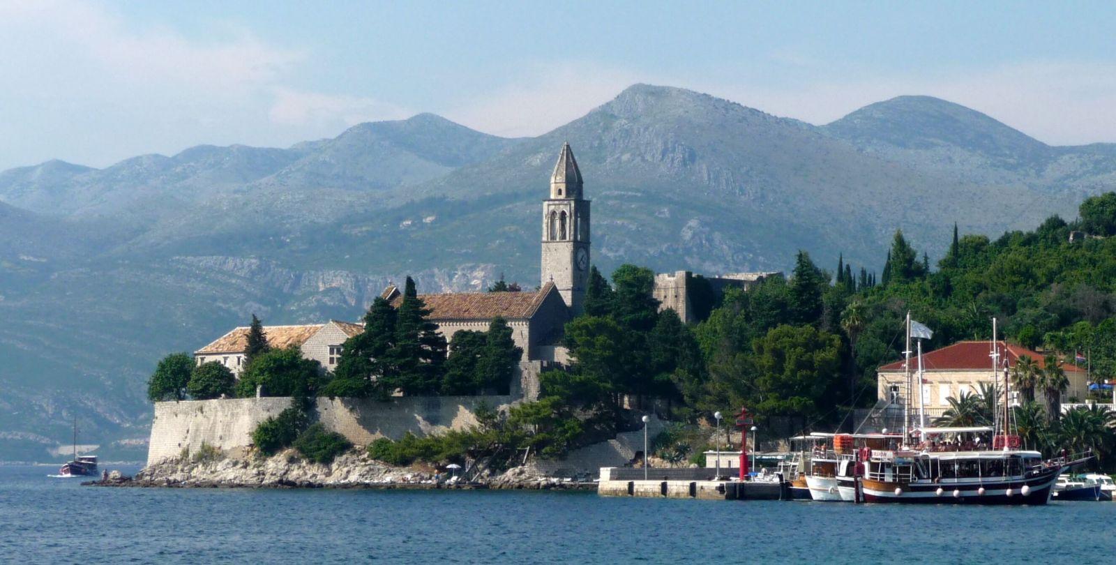 Ein Blick auf die Insel Sipan, Kroatien