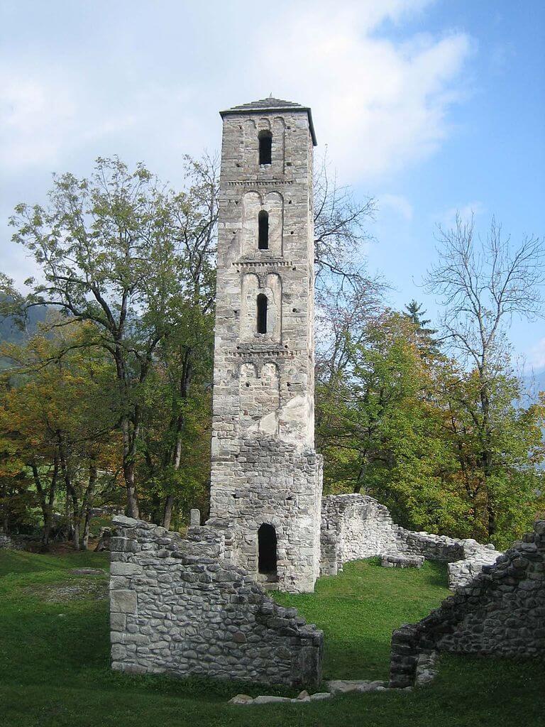 Der ehemalige Turm der Schlosskirche.