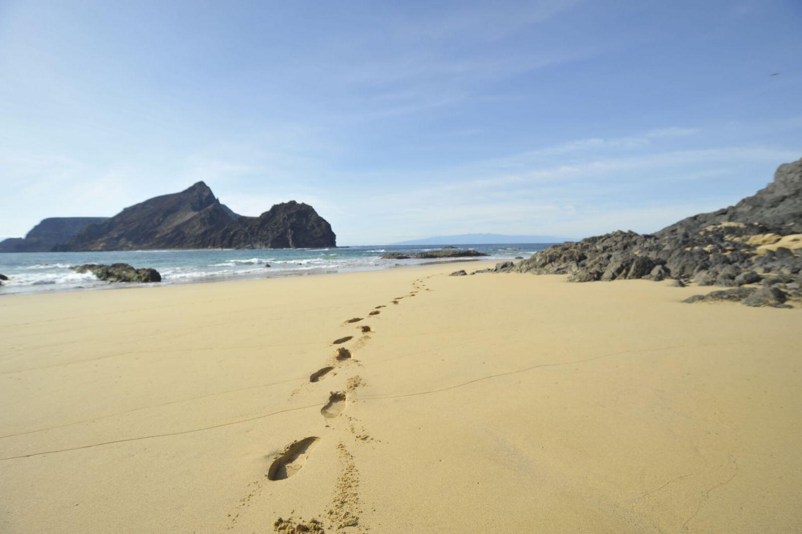 Ein Teil des Strandes auf der Insel Porto Santo