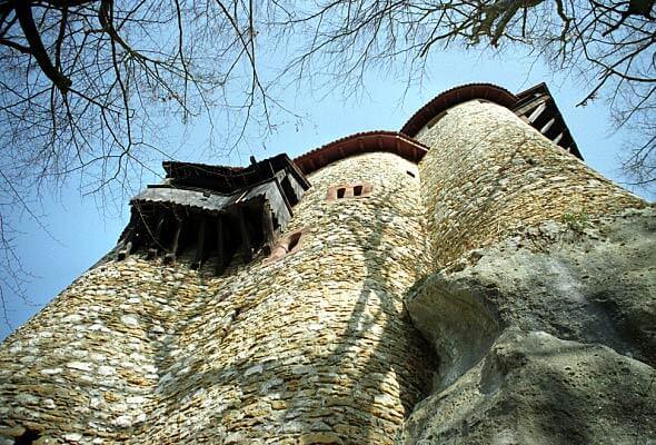Burg Reichenstein – Anblick von unten